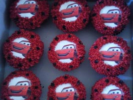 Cars Cupcakes 1