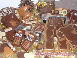 parcel chocolate arrangement